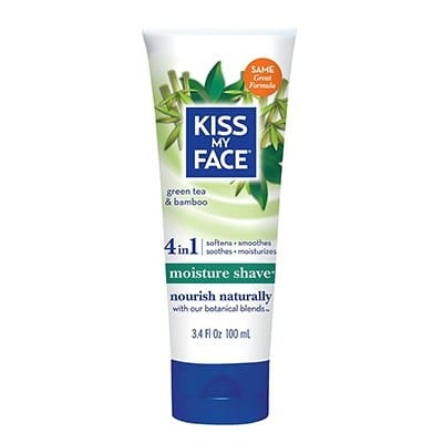 Kiss My Face Moisture Shave Natural Shaving Cream, Green Tea and Bamboo